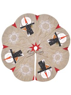 New Quilt Patterns - Snowman Tree Skirt Project Pack Christmas Ideas, Xmas, Christmas Tree, Christmas Quilt Patterns, Snowman Tree, Applique Ideas, Applique Quilts, Quilting Projects, Craft Stores