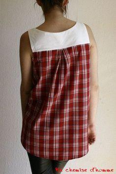 UPCYCLED ladies shirt tunic Medium by machemisedhomme on Etsy Like and Repin. Noelito Flow instagram http://www.instagram.com/noelitoflow