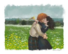 """girlfrog: """"one of series of three lallybroch pieces, all commissioned for a charity event. """""""