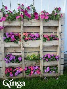 Ideias Ginga para a casa | Jardim vertical em palete reciclada. Reutilize as paletes velhas com criatividade.