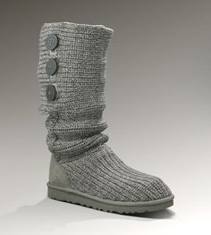 UGG Classic Cardy Boots 5819 Grey-$105.6