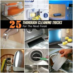 25 Thorough Cleaning Tricks For The Neat Freak #tips, #cleaning