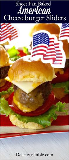 EASY Baked Hamburgers are stuffed with cheddar cheese and spread with Burger Sauce. These are fun little cheeseburgers that can work for a family dinner or patriotic holidays like July 4th! #bakedhamburgers #hamburgers #cheeseburgersliders #4threcipes #fourthfood Best Dinner Recipes, Summer Recipes, Breakfast Recipes, Baked Hamburgers, Cheeseburgers, Burger Sauces Recipe, Cookout Menu, Cheeseburger Sliders, Picnic Foods