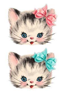 free clip art is part of Clip art vintage - free clip art Pretty Kitty Cat Images Images Vintage, Vintage Pictures, Vintage Clipart, Cat Clipart, Vintage Greeting Cards, Vintage Valentines, Vintage Birthday, Vintage Paper, Crazy Cats
