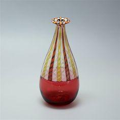Michael Hunter for Twists Glass incalmo zanfirico & tessera vase from Scarab Antiques