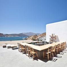 Restaurant Alemagou, Mykonos Island, Greece,... Terraza 2