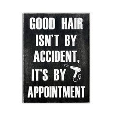 Good Hair Isnt By Accident Its By Appointment – Hair Dresser Decor – hair stylist gift – Beautician Gift – Hair Salon Decor – Hairapist, Barber Shop Decor, Barber gift, hairdresser acces - All About Decoration Hairdresser Quotes, Hairstylist Quotes, Hair Salon Quotes, Hair Quotes, Album Design, Rustic Salon Decor, Barber Quotes, Unique Hair Salon, Red Scene Hair