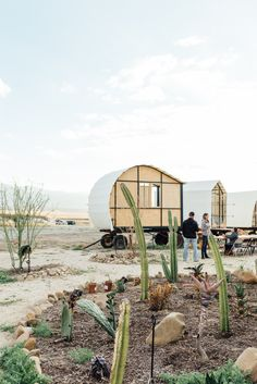 A beautiful event area has been curated by desert fellows to utilize the unique architecture and the mountains desert backdrop.