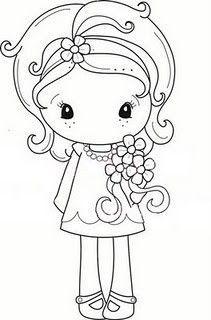Image result for digital stamps cute girls