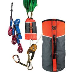 The Rope and Rescue Deluxe Tower Rescue Kit is the perfect solution for rescue after a fall. Lifting your victim is even easier with the pre-rigged 4:1 kit.