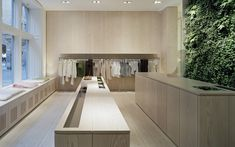:: RETAIL:: adore the interior of Filippa K, Stockholm. A warm soft yet subtle colour palette. Calming yet sophisticated ... #retail