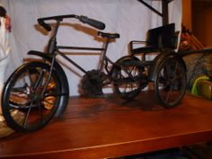 CAST IRON THREE WHEELED GEARED TRIKE