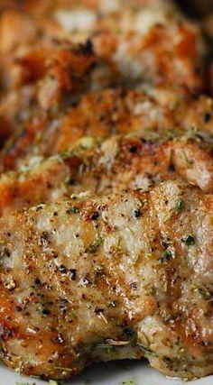 Garlic Rosemary Pork Tenderloin by thegunnysack Pork_TenderoIn Garlic Rosemary