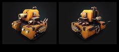 3D tanks on Behance