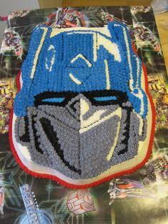 Optimus Prime Transformer cake (Wilton pan)