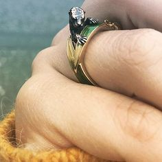 🌿:: We 💛 snap wearing her new Otter ring! Otters, Handcrafted Jewelry, Rings For Men, Enamel, Jewellery, Photo And Video, Studio, How To Wear, Instagram