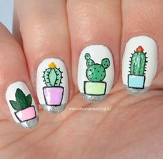 Cactus nails! So cute