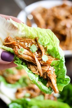 Instant Pot Honey Sesame Chicken Lettuce Wraps are a delicious healthy meal that cooks in just 10 minutes! Simple to make family friendly and so tasty! Instant Pot Pressure Cooker, Pressure Cooker Recipes, Pressure Cooking, Slow Cooker, Cooking Recipes, Healthy Recipes, Easy Recipes, Cooking Food, Food Prep