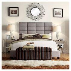 Inspire Q Gotham Platform Bed - Smoke (Grey) (Full), Durable