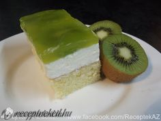 Kivis sütemény Kiwi Cake, Izu, Eat Cake, Creme, Cake Recipes, Cheesecake, Food And Drink, Cupcakes, Deserts
