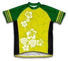 5aa08a1b6 Amazon.com   Hawaiian Greens Short Sleeve Cycling Jersey for Men - Size XS    Sports   Outdoors