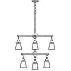Arroyo Craftsman A-line 9 Light Shaded Chandelier Finish: Verdigris Patina, Shade Color: Clear Seedy