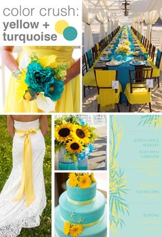 58 Best Teal Yellow Wedding Images