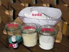 suroviny pro výrobu domácího prášku