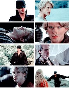 Cary Elwes as Westley in the Princess Bride (1987).