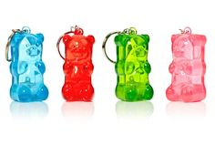 Add some much-needed adorbz to your keys with a Gummy Bear Light-Up Keychain. Just squeeze its little belly and the gummy lights up. Use that light to see your home or car's keyhole in the dark, or ju