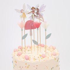 Fairy Birthday Cake, Special Birthday Cakes, Birthday Cake Toppers, Baby Girl Birthday Cake, Cupcake Toppers, Birthday Party Themes, Fairy Baby Showers, Fairy Cupcakes, Woodland Cake