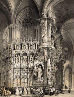 Готическая архитектура Испании на гравюрах XIX века.