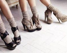 Heels with socks!
