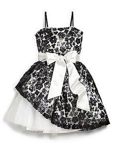 3b1e7961560 Un Deux Trois - Girl s Floral Sequin Peek-a-Boo Dress