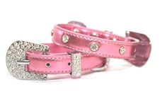 Foxy JEWEL Collar - Metallic Light Pink- Collars and Charms - Collars Posh Puppy Boutique