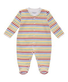 Red & Yellow Stripe Footie - Infant by JoJo Maman Bébé #zulily #zulilyfinds