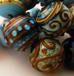 Lampwork Beads - So pretty!  I wish I could make these - cus I can't afford to buy them