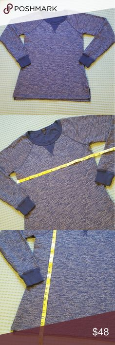 NWOT J. Crew Pullover new pullover crew neck sweatshirt by J. Crew in a blue marled look. Cozy & cute! Removed the tags & never wore, perfect condition! J. Crew Tops Sweatshirts & Hoodies