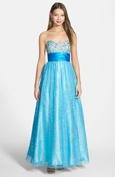 Steppin Out Embellished Bodice Ballgown (Juniors) available at #Nordstrom