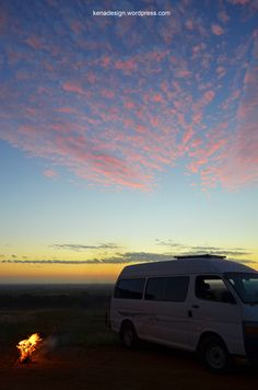 beautiful view, best place to stay, in the van. vanlife, roadies, travel, australia, landscape, campervan, diy, beautiful, road trip. kena_cm_design