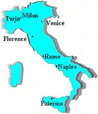 The Italian city states did not have a ruler, but that made it possible for a number of city-states in northern central Italy to remain Independent.  Milan, Venice, and Florence played a prominent role in Italian politics. They prospered from a flourishing trade that had expanded in the middle ages. Venice was a link between Asia and Western Europe and it was a republic with an elected leader called a doge.