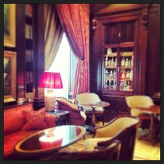 The Library Bar at the Lanesborough hotel London  www.5ivestarlondon.com Library Bar, London Instagram, London Hotels, Curtains, Luxury, Furniture, Star, Home Decor, Insulated Curtains