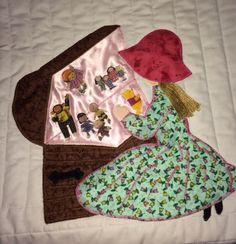 """Toybox idea-My quilt block from the book: """"Bonnet Girls-Patterns of the Past"""" by  Helen R. Scott."""