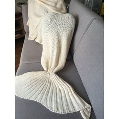 22.17$  Watch here - http://diy6z.justgood.pw/go.php?t=189073101 - Stylish White Handmade Wool Knitted Mermaid Design Blanket 22.17$