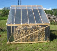 Firewood can dry in a single summer if split and stored properly.