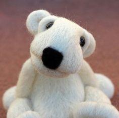 Needle Felted Wool Polar Bear by TheWoollyPear on Etsy