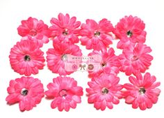 12 2 Light Pink Gerbera Daisy Flowers by wholesaleflowers on Etsy, $2.75