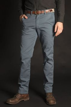 """Our chinos are a classic piece with our own twist; a 5th """"bullet pocket."""" Get yours while spring is still in full swing."""