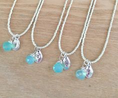 A personal favorite from my Etsy shop https://www.etsy.com/listing/277191680/bridesmaid-gift-set-necklace-set-of-4-5