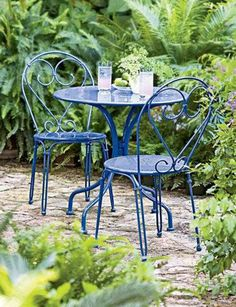 images about Metal Chairs on Pinterest Outdoor